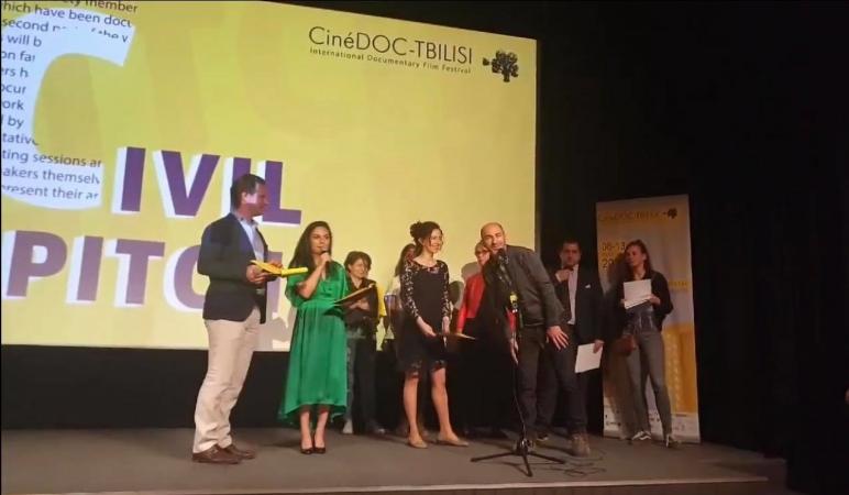 GCRT-ის პროექტი ფესტივალ სინედოკის Cinedoc-ის სექციის - Civil Pitch-იზ გამარჯვებული გახდა